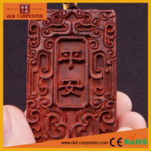 Fashion Safety Driving car hanging wood carving craft ornament