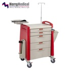 Commercial Furniture Hospital Abs Cart Emergency Trolley Hospital ABS Emergency Crash Cart with Drawers Medical Cart Supplies