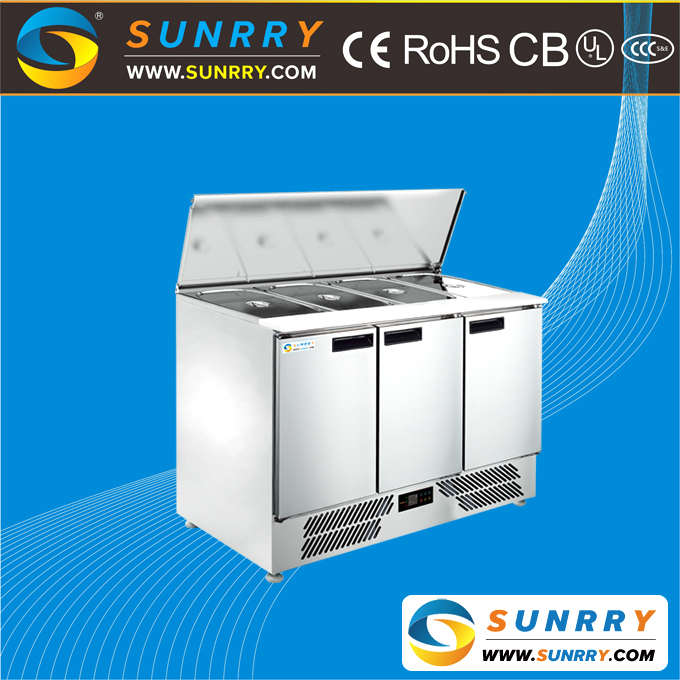 High Quality Pizza Prep Table Refrigerator Work Table
