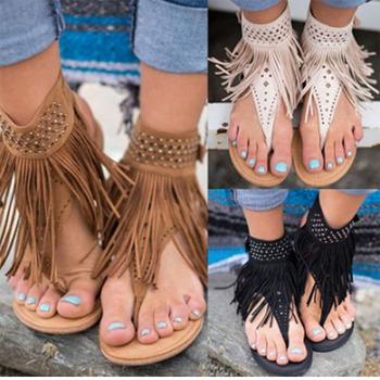 f0c524a0e45a Wholesale Monogram Women Fringe Sandals