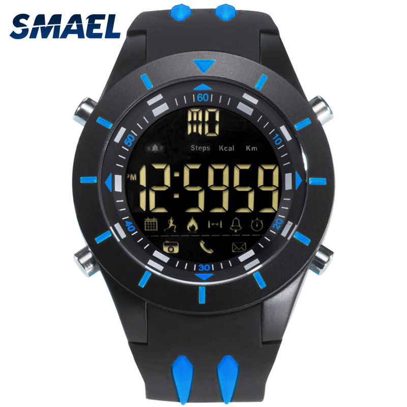 SMAEL outdoor multifunction bluetooth smart sport watch with low price фото