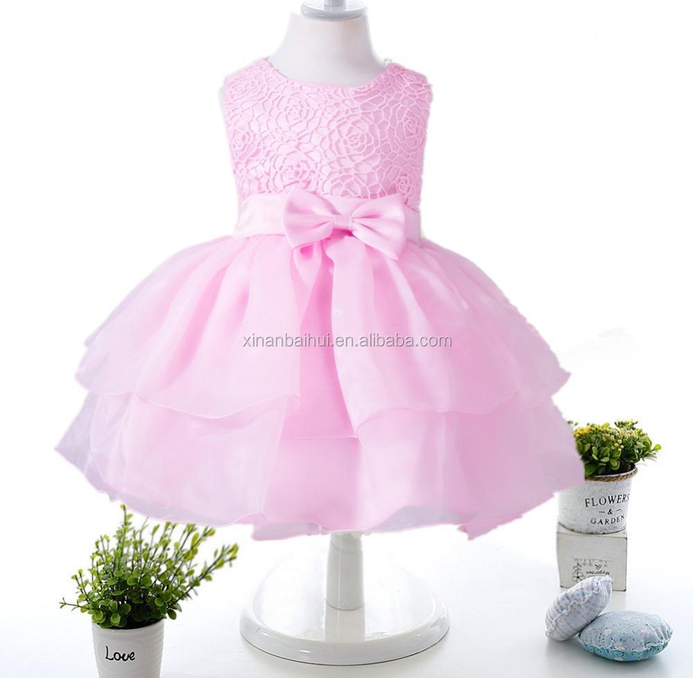 Estilo europeo y americano vestido de bebé para 2 años gasa vestidos ...