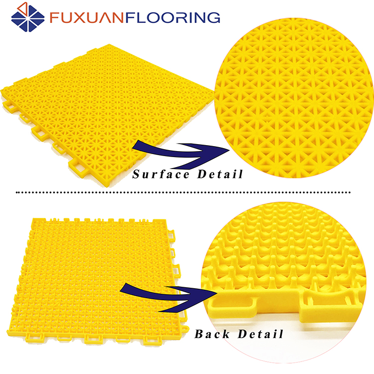 portable pp interlocking tile used volleyball sport court flooring material / outdoor badminton court construction