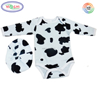 F562 Baby Bodysuit-Hat Unisex Clothes Rompers Sets Light Blue-Black Long Sleeve Anime Baby Clothes