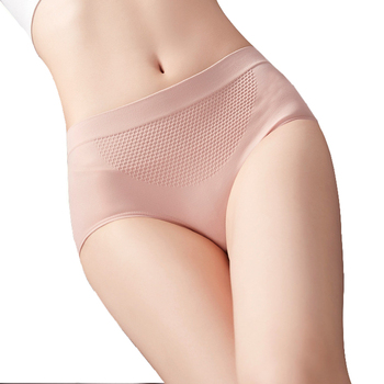 3D honeycomb seamless women underwear massage high elastic cotton file breathable waist hip ladies panties