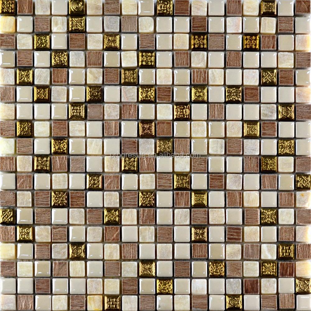 wholesale metal mix ceramic mosaic wall decor , art mosaic tile