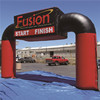 Advertising logo print race sports start finish line air inflatable arch