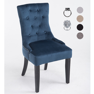 Wooden Fabric Chair Cheap High Back Modern Dining Chair with Ring Back