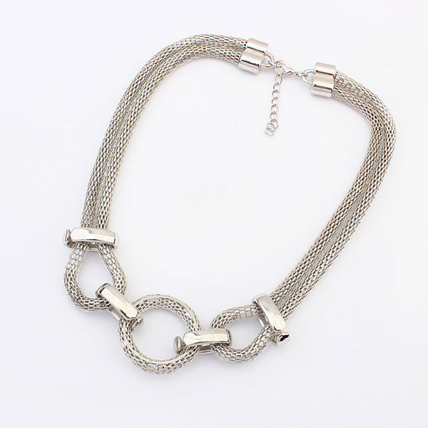 Unique rhodium plated jewelry cheap custom neme design neckla cool stainless steel chain necklace PN1691