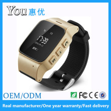 Hot selling sos wifi gps take off alarm gps smart emergency watch phone for elderly