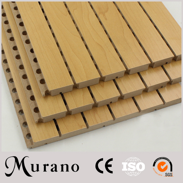 Low price dual channel No risk of skin irritation groove acoustic panel