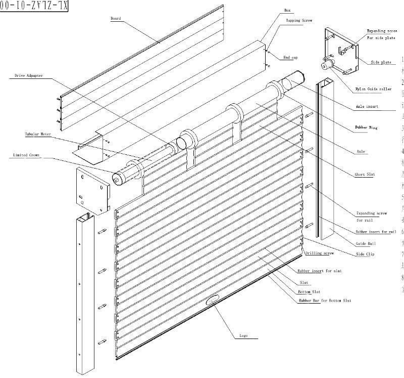 Exterior: Noiseless Vertical Motorized Aluminum Roller Shutters