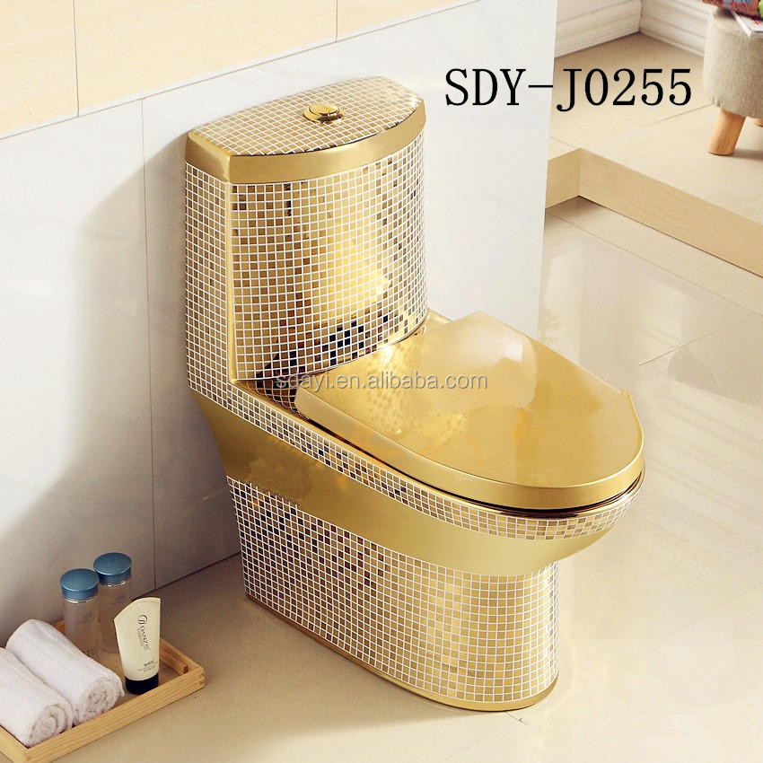 gold plated toilet seat. ceramic bathroom design wc color toilet bowl gold plated portable Ceramic Bathroom Design Wc Color Toilet Bowl Gold Plated Portable