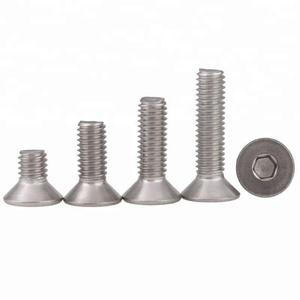 M5 M6*30mm SS304 Stainless Steel Hex Socket Countersunk Head Cap Screw DIN7991