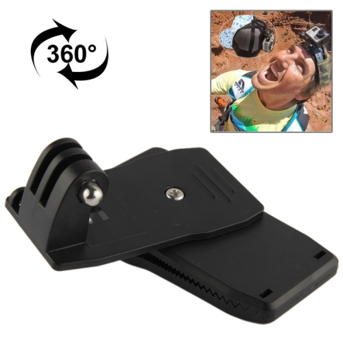 For Go pro Sj4000 Accessories 360 Degree Rotary Backpack Hat Clip Fast Clamp Mount For GoPro Hero 3+ 4 SJ4000/5000 Xiaomi yi