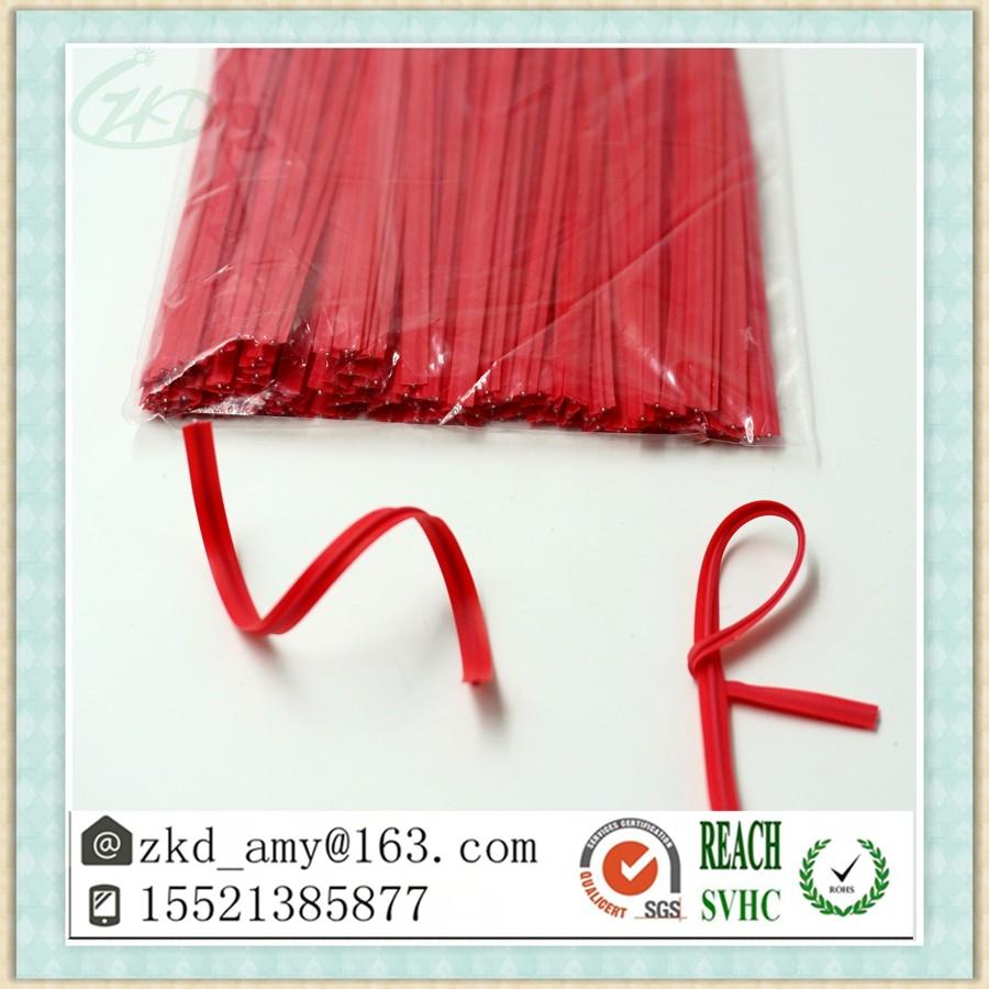 045mm iron wire tie pvc plastic bag packaging magic twist tie - Bread Ties Color