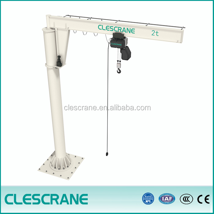 wire rope hoist jib crane lifting electric jib crane slewing pillar type lightweight with installation service provided