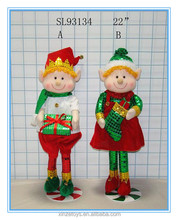 Christmas Plush toy Felt material elf doll with boy and girl