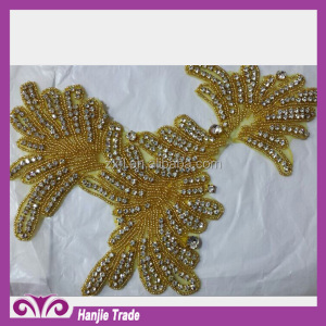 Hot Sell Bling Bling Decorative Rhinestone Applique Trimming For Wedding Dress