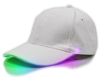 Hot sale cotton plain led cap shinning glow in dark flashlight camping outdoor cap