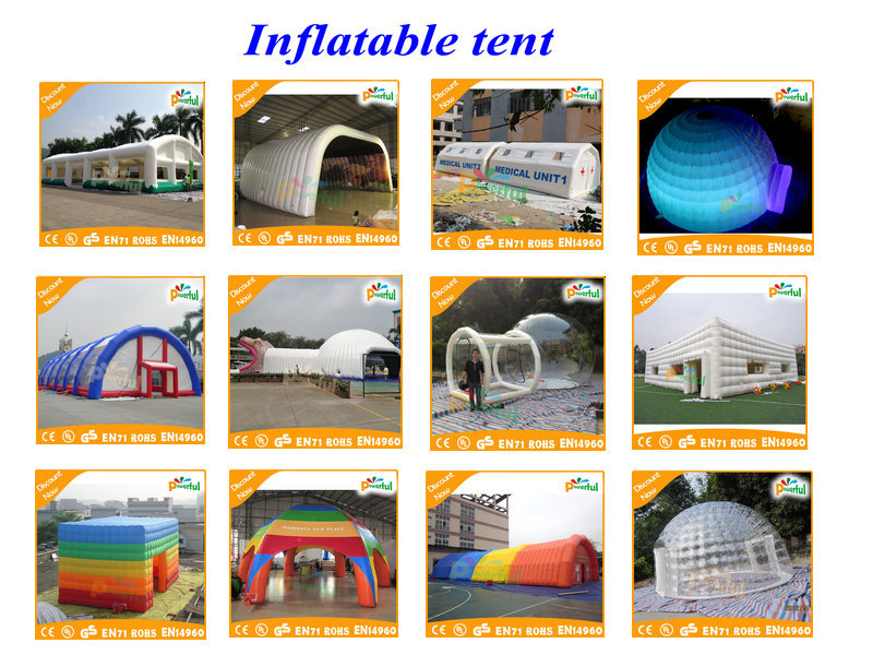 Outdoor camping inflatable balloon tents bubble two room hotel