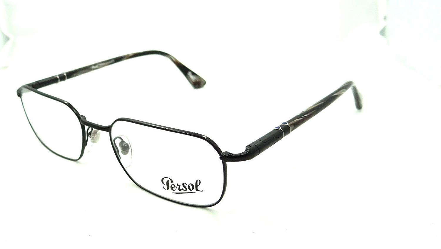 Persol Rx Eyeglasses Frames 2431 V 1055 51x18 Black with Horn Made in Italy