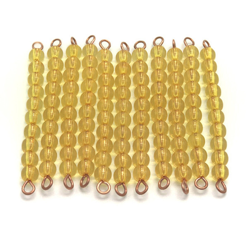 High quality child math learning toy golden beads montessori materials in china