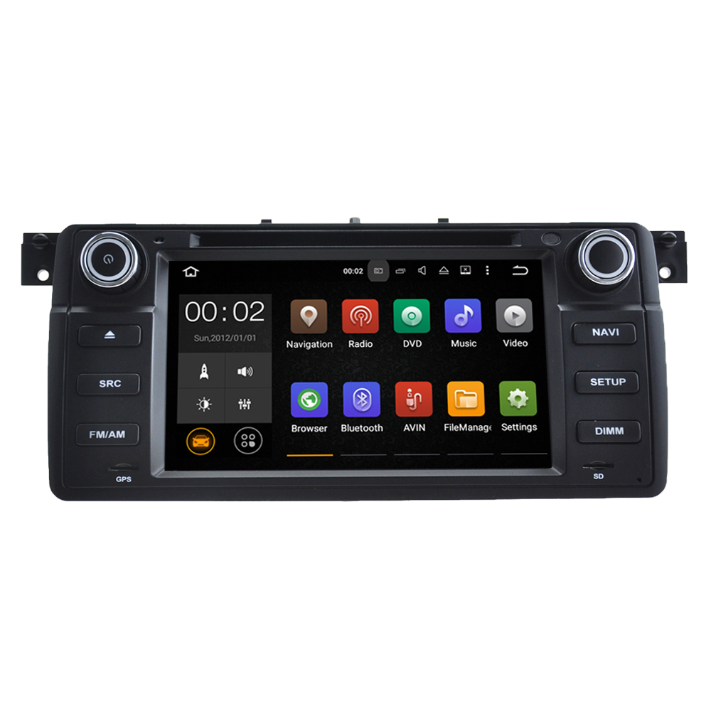 "7"" 1024*600 Quad core 1DIN Pure Android 5.1.1 Car DVD GPS Player for BMW E46 With WIFI Bluetooth Mirror-link Canbus SWC"