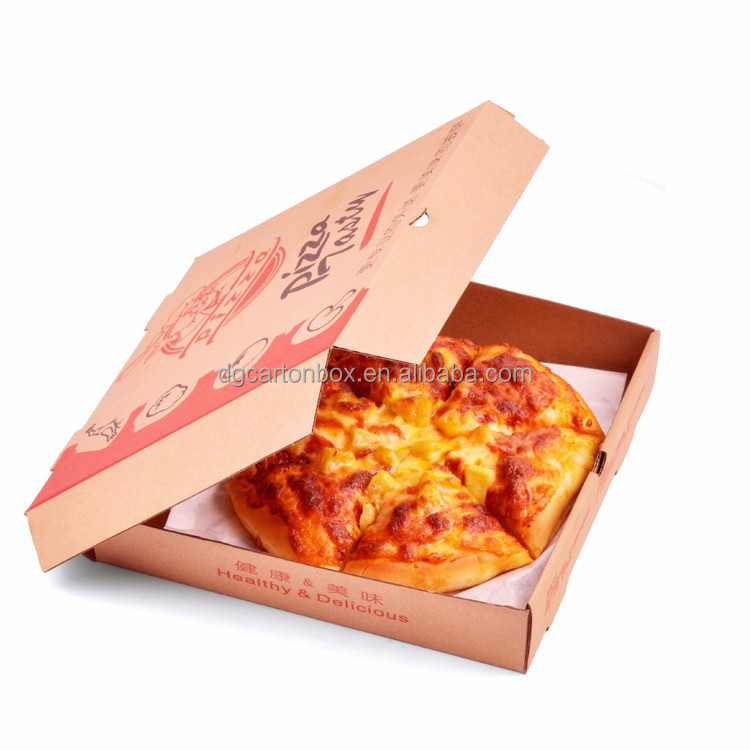 Hot sale corrugated paper pizza box for fast food