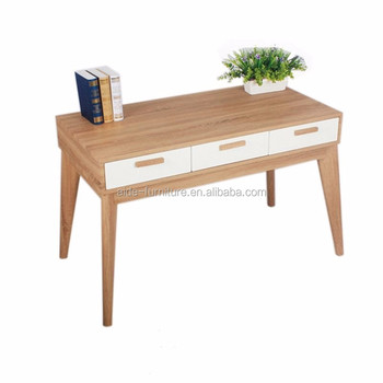 Modern Simple Cheap Metal Leg Wooden Drawers MDF Work Office Furniture Desk