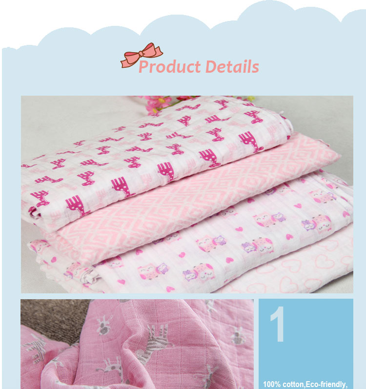 Wholesale newborn baby swaddle blankets 100%cotton muslin swaddle blankets set sale