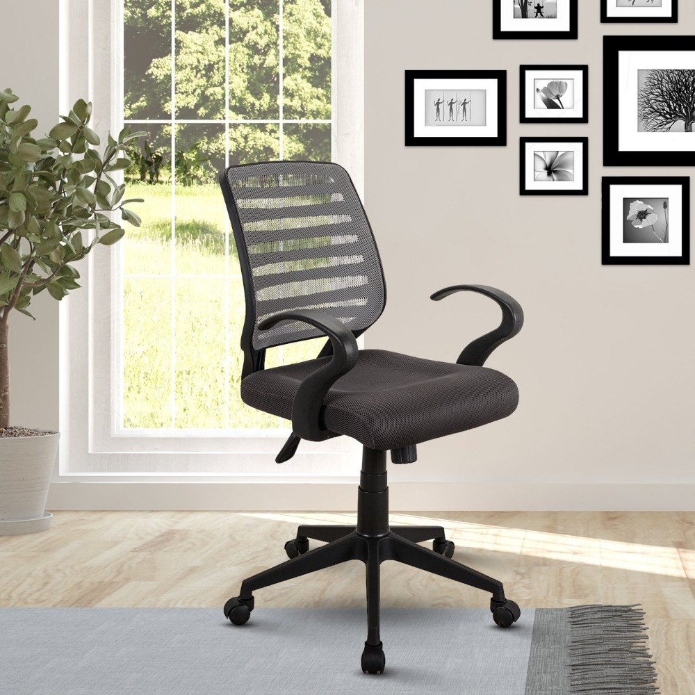 Low back style executive rolling mesh task office work staff chair with arms and wheels
