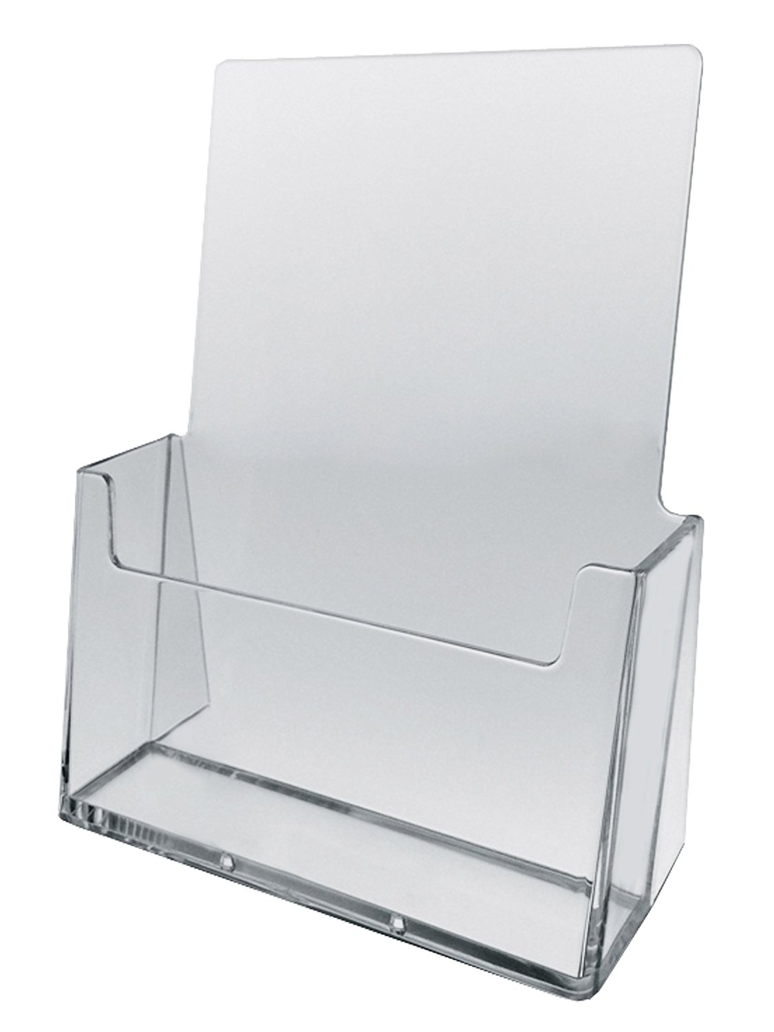 Marketing Holders Brochure or Literature Holder Clear Acrylic Design Holds 8.5x11 Full Page Literature - Sold in Lots of 25