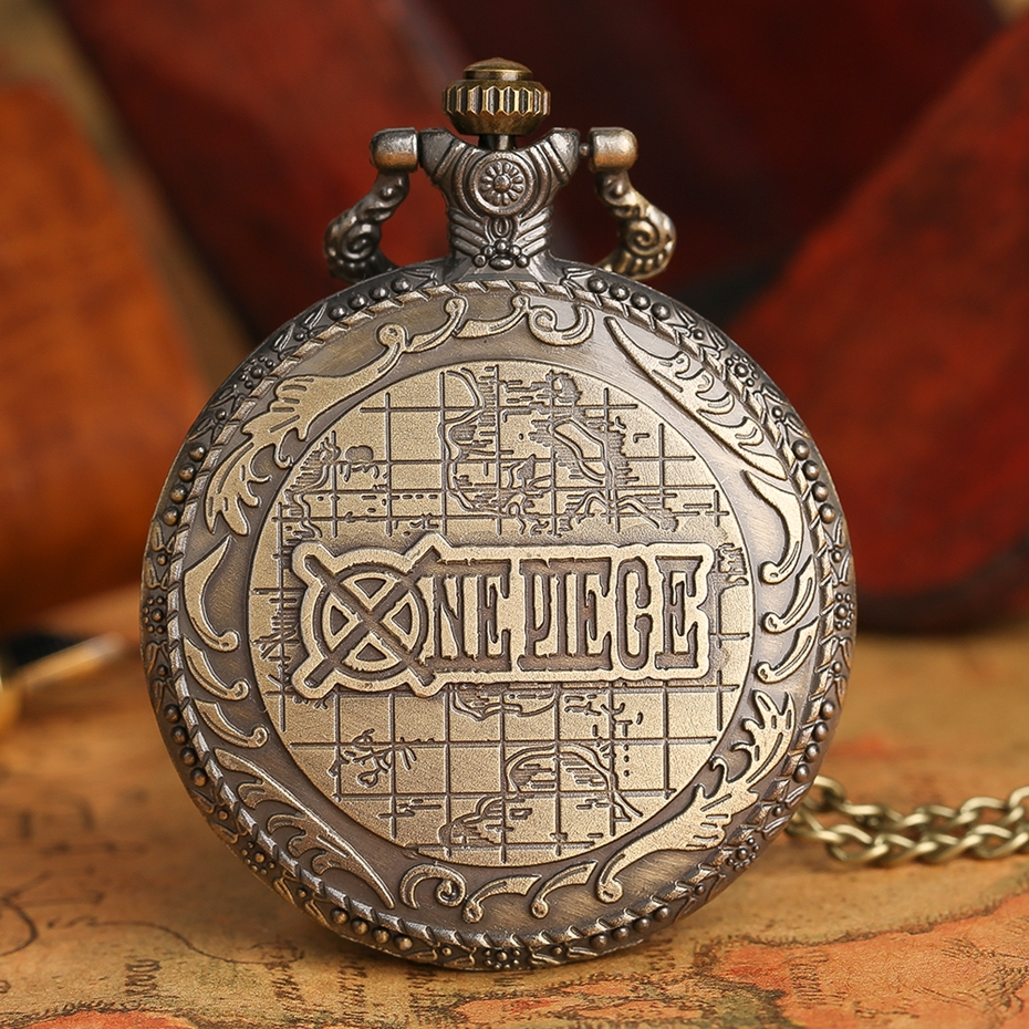 Men's Japan Cartoon Anime One Piece Pocket Watch Fashion Men Women Necklace Chain Vintage Steampunk Fob Watch Drop Free Shipping 2017 2018 Best Gifts (3)