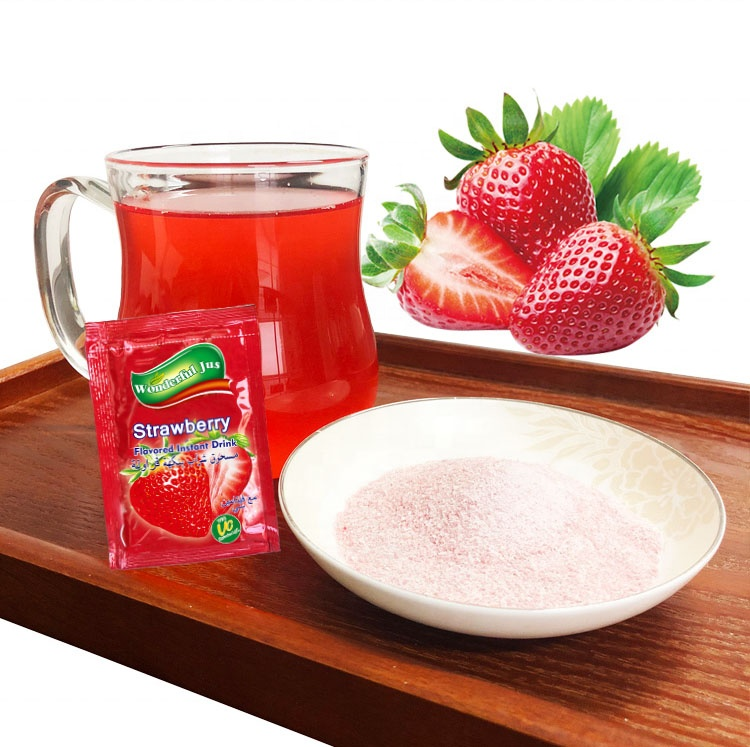 Instant <strong>Fruit</strong> Drink Strawberry flavor Concentrate <strong>Fruit</strong> Powder rich in Vitamin C Sugar free
