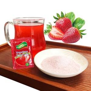 Instant Fruit Drink Strawberry flavor Concentrate Fruit Powder rich in Vitamin C Sugar free
