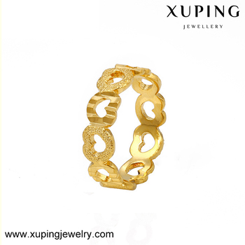 Xuping Jewelry Female Latest Gold Hollow Heart Shaped Design 24k