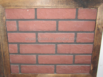 Hy Red Color Artificial Antique Culture Stone Wall Cladding