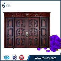 China factory whole sale swing double door exterior house doors