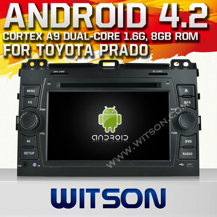 "WITSON Android 4.2 tape recorder in car video for 7"" <strong>TOYOTA</strong> <strong>PRADO</strong> 120 WITH A9 CHIPSET 1080P 8G ROM WIFI 3G INTERNET DVR SUPPORT"