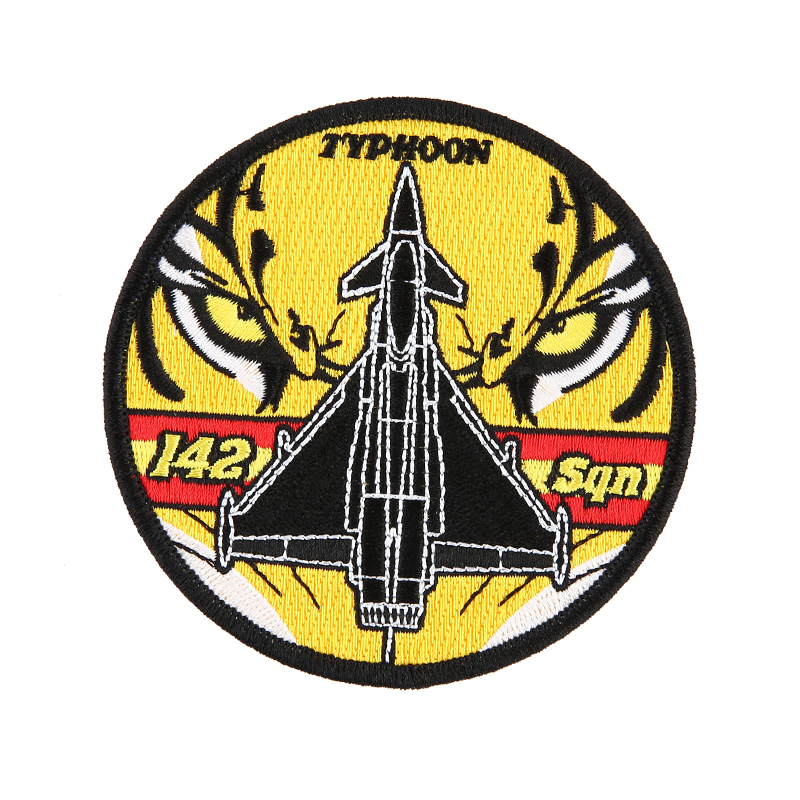 Custom Embroidered Patch,3D Embroidery Patch With Tiger and Airplane Logo
