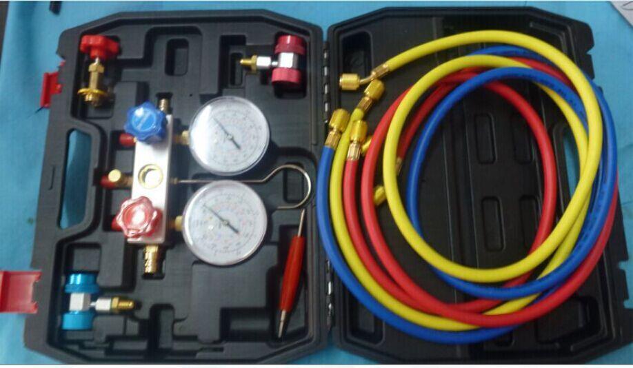 Mst-134a кондиционер ремонт инструмент хладагент R134a манометр устанавливается с прямыми типа быстрого разъем