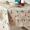 Europe fresh small iron tower table cloth classic linen rectangular hot sale tablecloths with lace edge