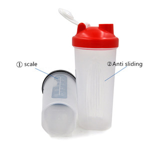 Full color portable fitness shake cup Protein powder sports cup plastic cup Milkshake shaker Factory direct