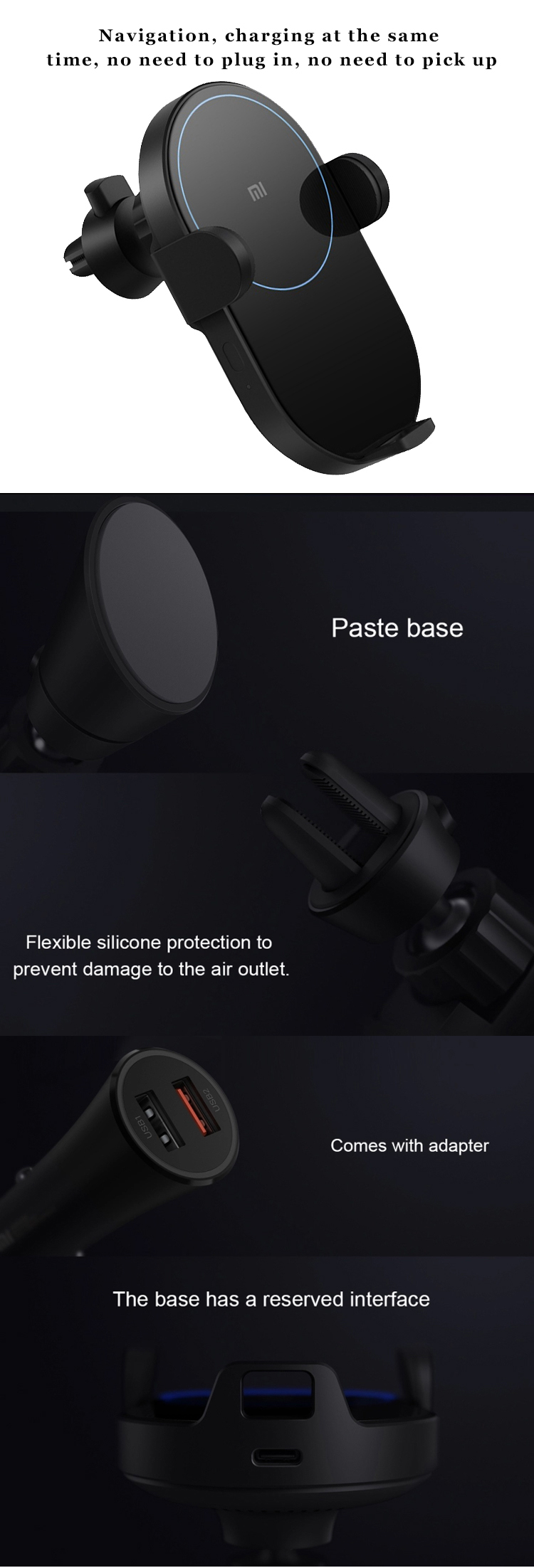 xiaomi Phone Charging Infrared Sensor 20W MAX wireless fast car charger