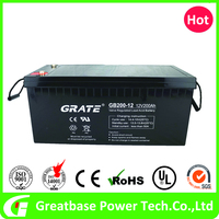 reasonable low price VRLA 12v 200ah Gel Deep cycle Battery for UPS Solar system