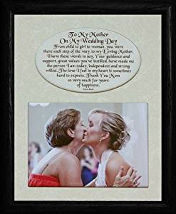 8x10 TO MY MOTHER ON MY WEDDING DAY ~ Photo & Poetry Frame ~ Holds a Landscape 5x7 Picture (BLACK)