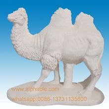 Well Polished Natural Stone White Marble Camel Statue