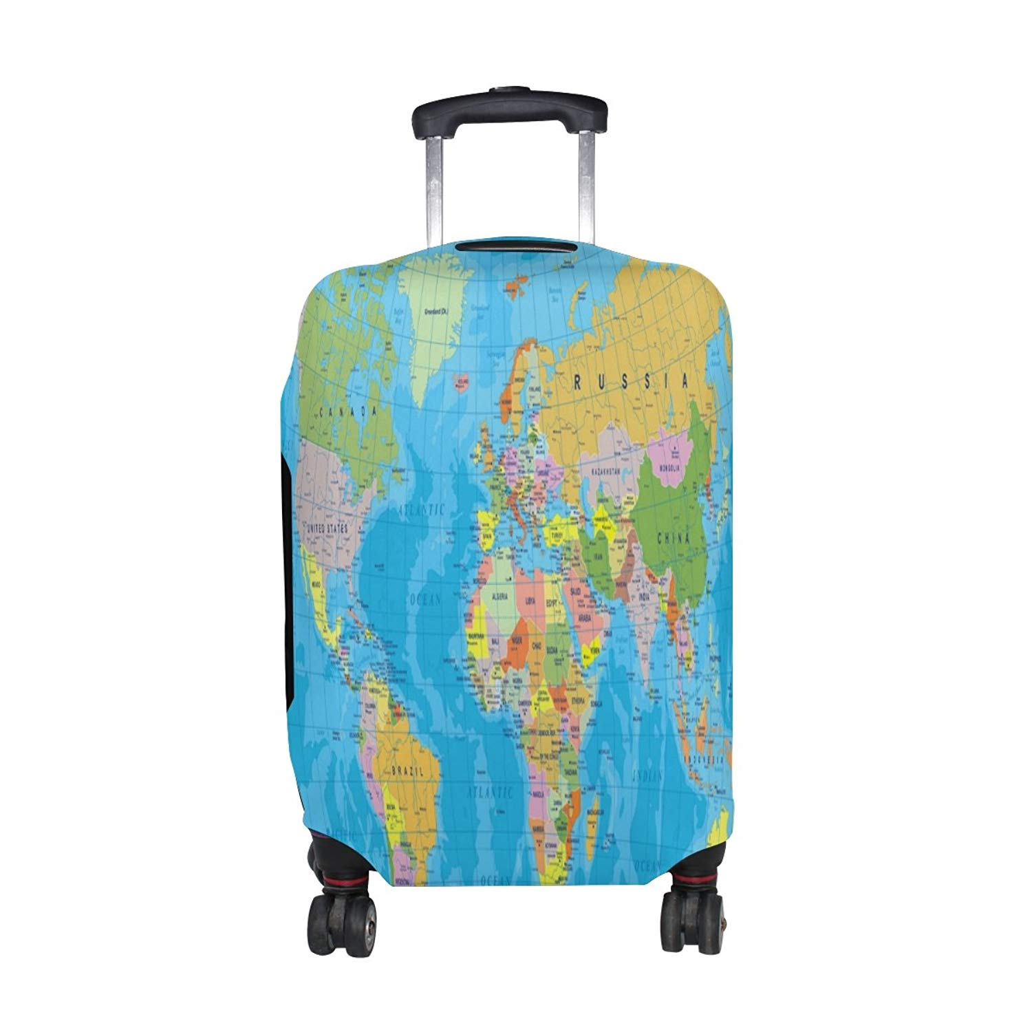 FOLPPLY Soccer Ball Pattern Luggage Cover Baggage Suitcase Travel Protector Fit for 18-32 Inch