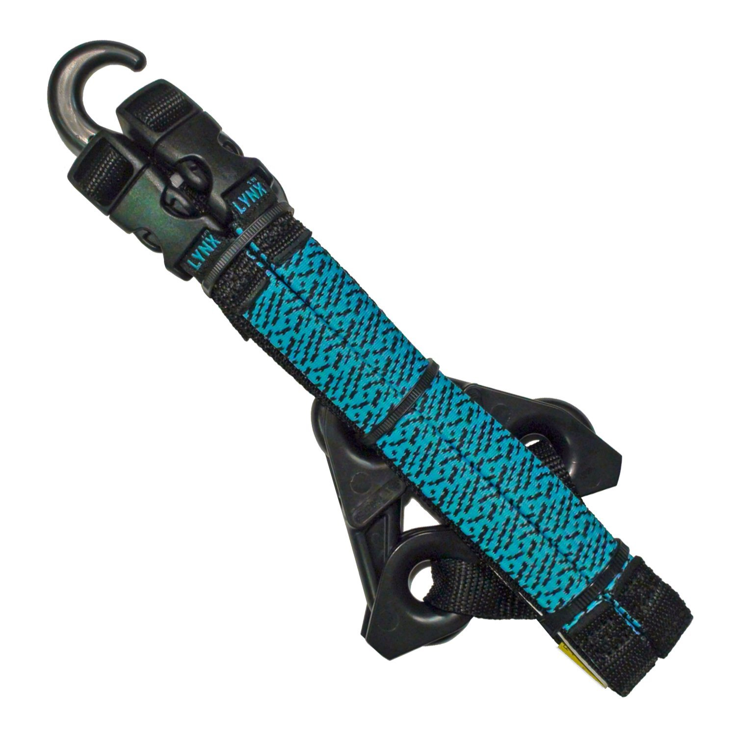 LYNX Hooks® Aqua Blue Adjustable, Interlocking Gear Straps